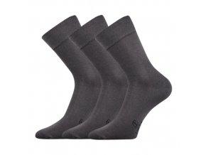 Společenské ponožky 3 kusy v balení Lonka Dasilver tmavě šedá
