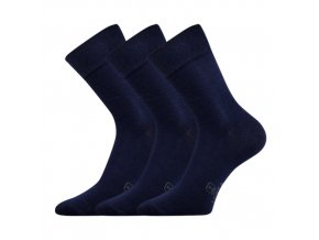 Společenské ponožky 3 kusy v balení Lonka Dasilver tmavě modrá