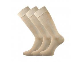 Společenské ponožky 3 kusy v balení Lonka Diplomat béžová