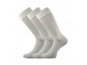 Společenské ponožky 3 kusy v balení Lonka Diplomat světle šedá