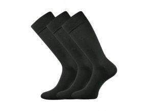 Společenské ponožky 3 kusy v balení Lonka Diplomat tmavě šedá