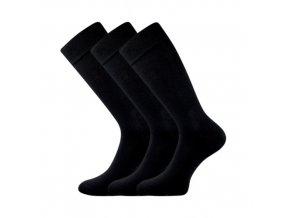 Společenské ponožky 3 kusy v balení Lonka Diplomat černáb