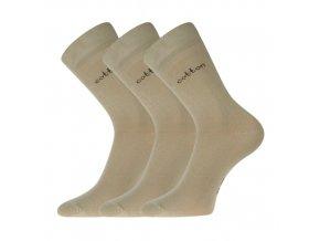 Společenské ponožky 3 kusy v balení Lonka Doban béžová