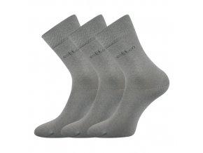 Společenské ponožky 3 kusy v balení Lonka Doban světle šedá