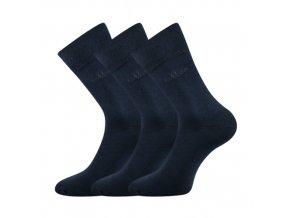 Společenské ponožky 3 kusy v balení Lonka Doban tmavě modrá