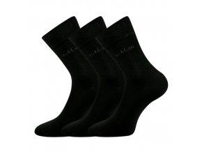 Společenské ponožky 3 kusy v balení Lonka Doban černá