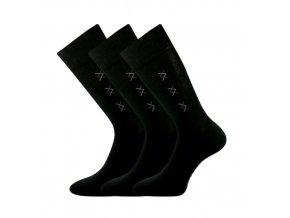 Společenské ponožky 3 kusy v balení Lonka Doratek černá