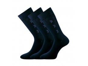 Společenské ponožky 3 kusy v balení Lonka Doratek tamvě modrá