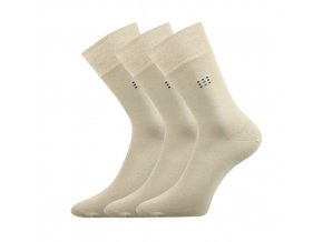 Společenské ponožky 3 kusy v balení Lonka Drylon béžová