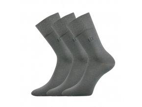 Společenské ponožky 3 kusy v balení Lonka Drylon šedá