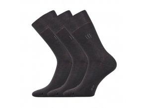 Společenské ponožky 3 kusy v balení Lonka Drylon tmavě šedá