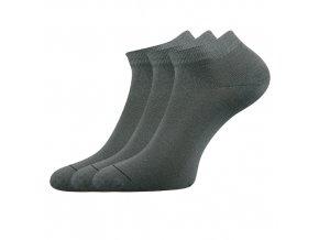 Společenské ponožky 3 kusy v balení Lonka Dyp šedá