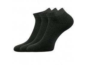 Společenské ponožky 3 kusy v balení Lonka Dyp tmavě šedá