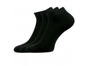 Společenské ponožky 3 kusy v balení Lonka Dyp černá