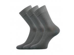 Společenské ponožky 3 kusy v balení Lonka Dypak světle šedá