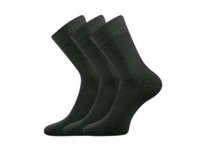 Společenské ponožky 3 kusy v balení Lonka Dypak tmavě šedá