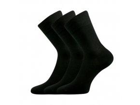 Společenské ponožky 3 kusy v balení Lonka Dypak černá