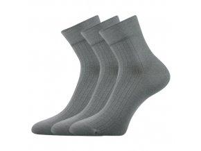 Společenské ponožky 3 kusy v balení Lonka Gazdan šedá