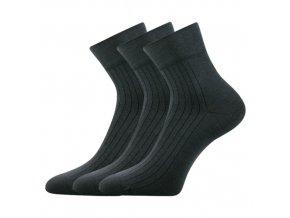 Společenské ponožky 3 kusy v balení Lonka Gazdan tmavě šedá