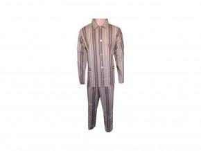 Pánské Pyžamo Plátěné Nadměrné FOLTÝN PPN20