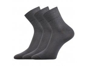 Bambusové ponožky 3 kusy v balení Lonka Dabon tmavě šedá