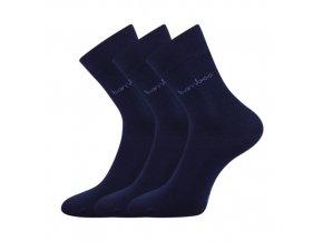 Bambusové ponožky 3 kusy v balení Lonka Debambas tmavě modrá