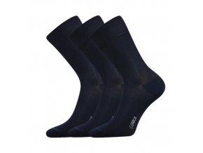 Bambusové ponožky 3 kusy v balení Lonka Debob tmavě modrá