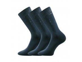 Společenské ponožky 3 kusy v balení Lonka Daton tmavě modrá