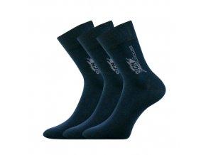 Společenské ponožky 3 kusy v balení Lonka Design tmavě modrá