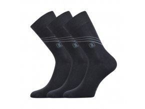 Společenské ponožky 3 kusy v balení Lonka Design tmavě šedá