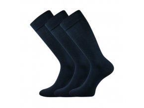 Společenské ponožky 3 kusy v balení Lonka Diplomat tmavě modrá