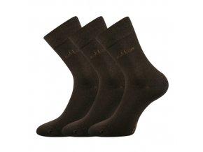 Společenské ponožky 3 kusy v balení Lonka Doban hnědá