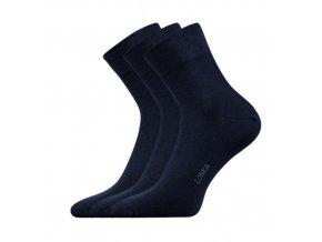 Společenské ponožky 3 kusy v balení Lonka Esot tmavě modrá