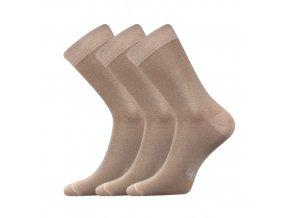 Společenské ponožky 3 kusy v balení Lonka Fasilva béžová