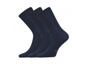 Společenské ponožky 3 kusy v balení Lonka Fasilva tmavě modrá