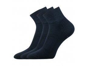Bambusové ponožky 3 kusy v balení Lonka Raban tmavě modrá