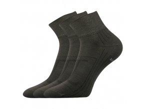 Bambusové ponožky 3 kusy v balení Lonka Raban hnědá