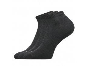 Sportovní Ponožky 3 kusy v balení VoXX Baddy černá