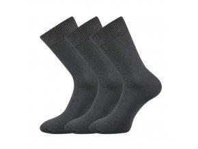 Společenské ponožky 3 kusy v balení Lonka Blažej 100% bavlněné tmavě šedá
