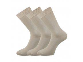 Společenské ponožky 3 kusy v balení Lonka Blažej 100% bavlněné béžová