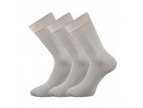 Společenské ponožky 3 kusy v balení Lonka Blažej 100% bavlněné světle šedá