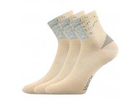 Sportovní Ponožky 3 kusy v balení VoXX Codex béžová