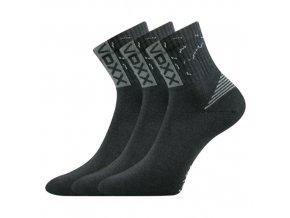 Sportovní Ponožky 3 kusy v balení VoXX Codex tmavě šedáb