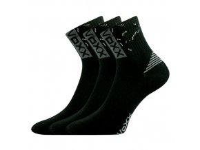 Sportovní Ponožky 3 kusy v balení VoXX Codex černá