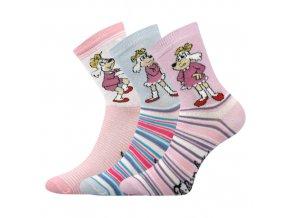 Dětské ponožky 3 kusy v balení VoXX licenční čtyřlístek mix a