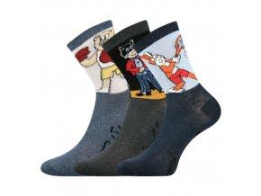 Dětské  ponožky 3 kusy v balení VoXX licenční čtyřlístek mix B