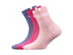 Dětské ponožky 3 kusy v balení VoXX Fredík dívčí mix Ab
