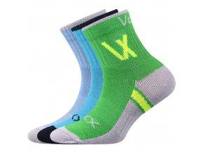 Dětské ponožky 3 kusy v balení VoXX Neoik mix vzorů C