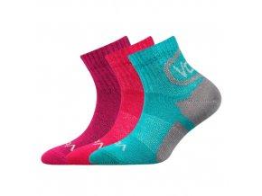 Dětské ponožky 3 kusy v balení VoXX Oskárek mix vzorů B