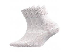 Dětské bavlněné ponožky 3 kusy v balení Boma Romsek bílá